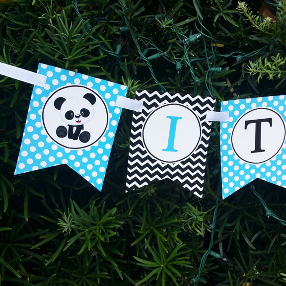 Its A Boy Panda Baby Shower Banner By That Party Chick Panda Blue