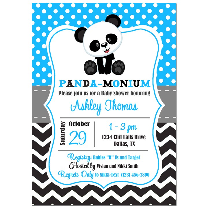 Panda Birthday Or Baby Shower Invitation By That Party Chick Panda