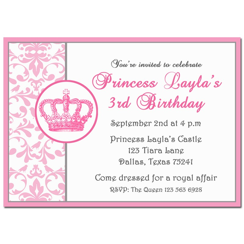 Princess birthday party invitation by that party chick pretty pink princess birthday party invitation pretty pink vintage chic princess collection filmwisefo