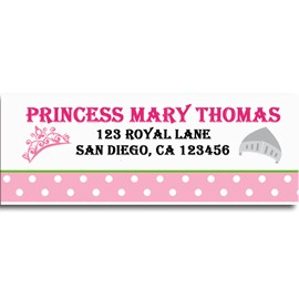 princess and knight birthday party return address labels by that