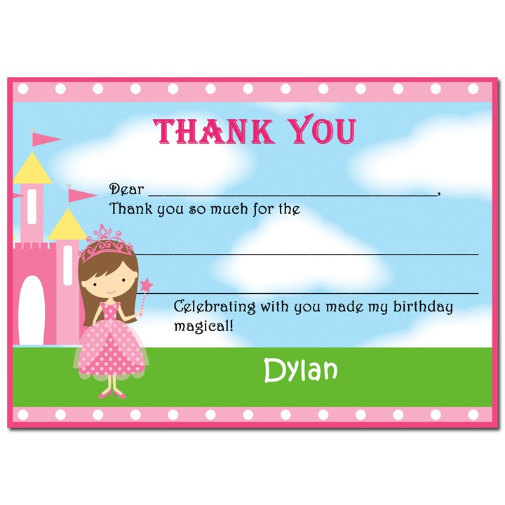Princess and Knight Birthday Party Thank You Notes by That Party Chick