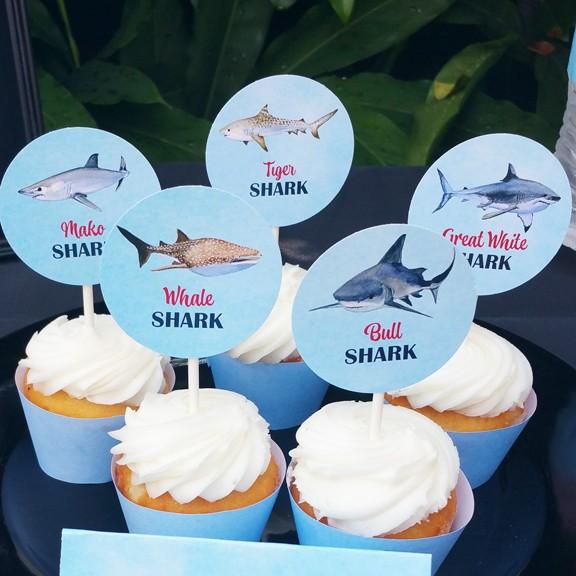 recipe: shark cupcake topper [20]