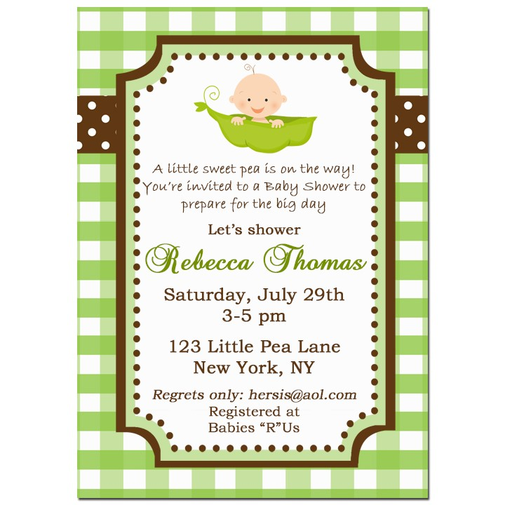 Pea in a pod baby shower invitation by that party chick my sweet pea in a pod baby shower invitation filmwisefo