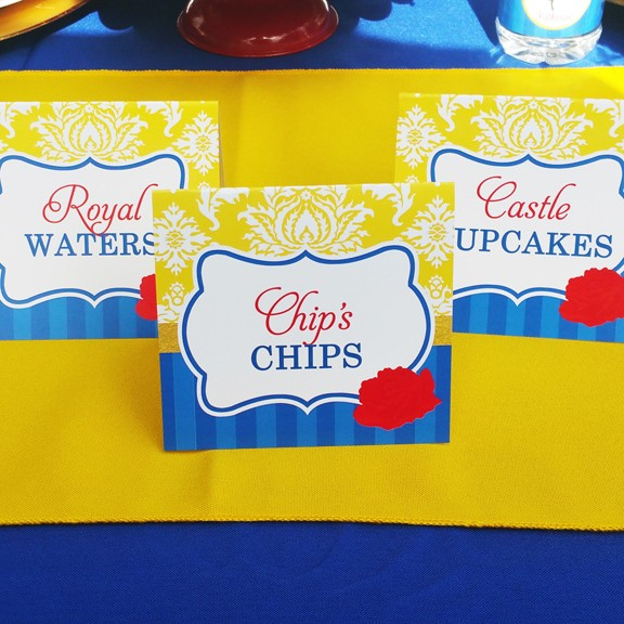 Beauty and The Beast Disney Princess Party Tent Style Food ...