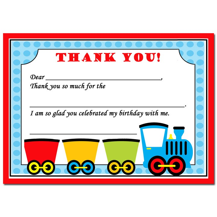 Train Party Thank You Notes By That Party Chick  Choo Choo