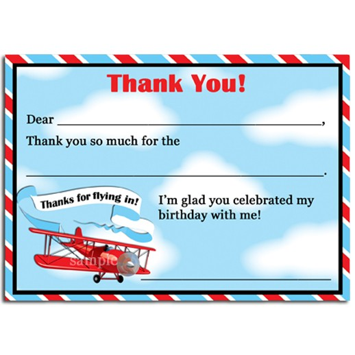 vintage airplane thank you notesthat party chick  up