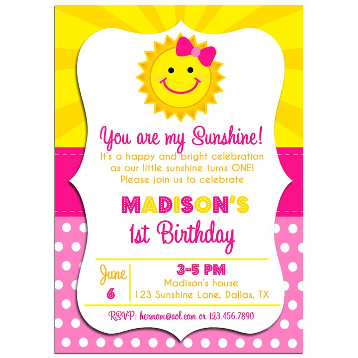 Sunshine Party Invitation by That Party Chick