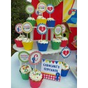 Country Fair Cupcake Toppers - Counctry at Heart Collection