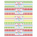 Country Fair Birthday Water Labels