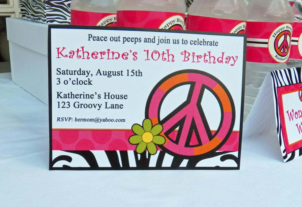Peace Out Peeps Invitation