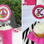 Peace Sign Party - Hot Pink Polka Dot Zebra