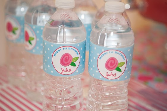 Shabby Chic Water Bottle Labels