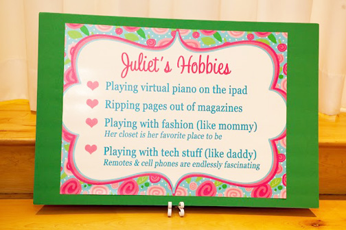hobbies poster first birthday