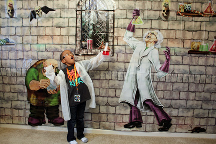 Mad Science Mural Backdrop