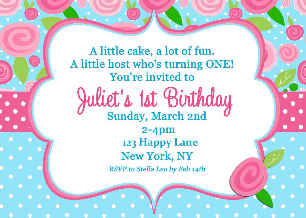 Shabby Chic Invitation First Birthday