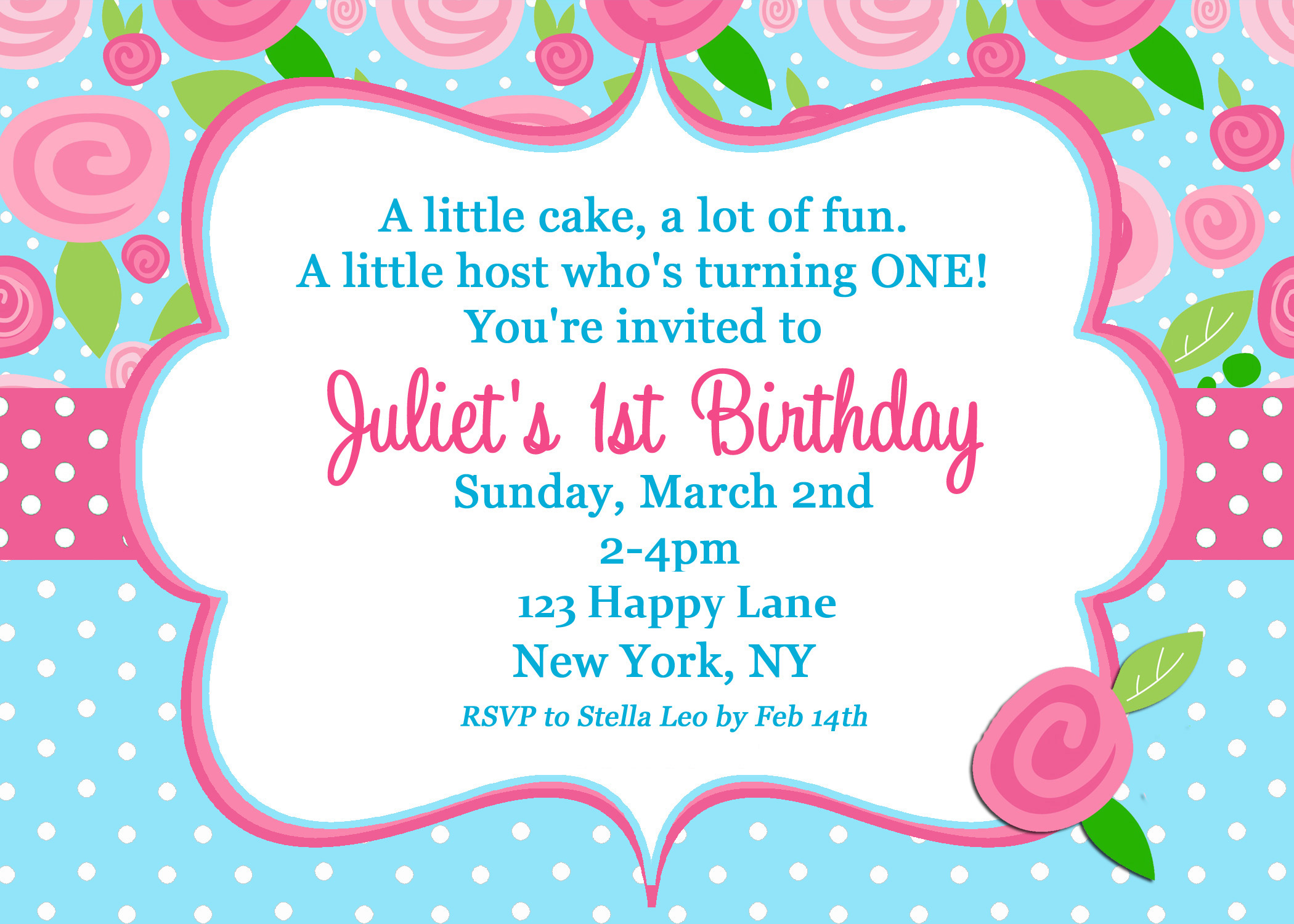 Shabby chic first birthday sweet rose fashionista that party chick shabby chic invitation first birthday filmwisefo Choice Image