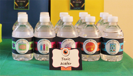 mad science water labels