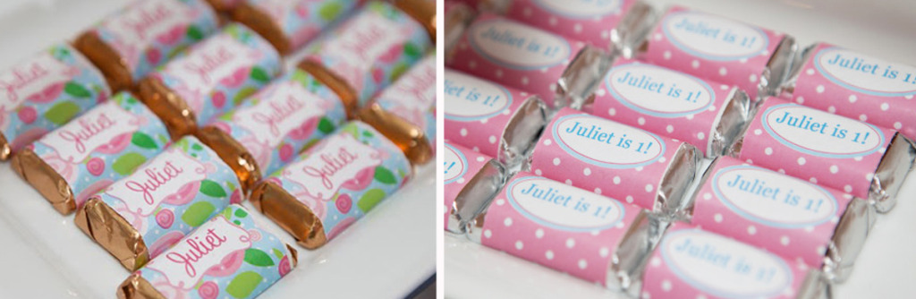 mini hershy candy wrappers floral 2
