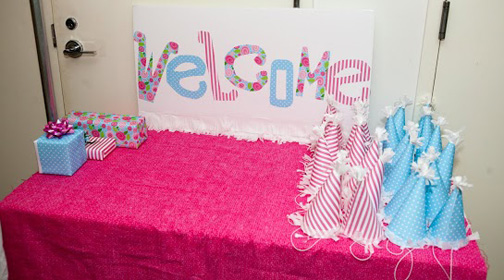 party welcome table