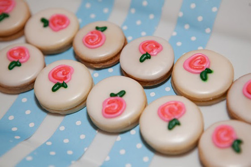 shabby chic floral coookies