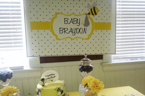 Baby Bee Back Drop Poster The Dessert Table