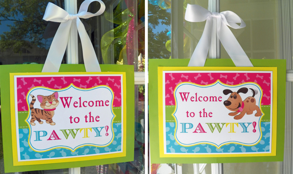 cat and dog welcome signs 2