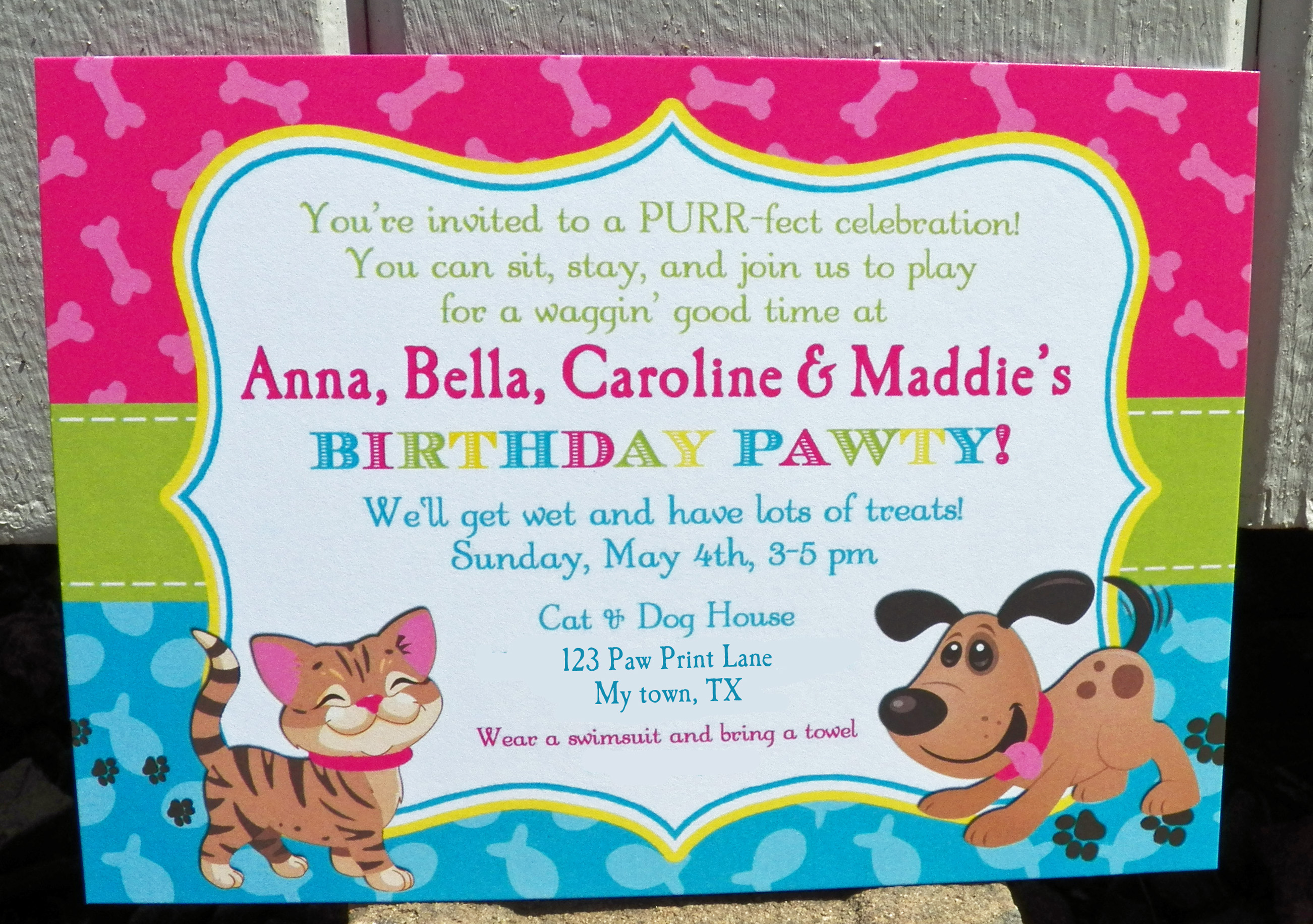 Cats and Dogs Birthday PAWty That Party Chick – Puppy Dog Birthday Invitations