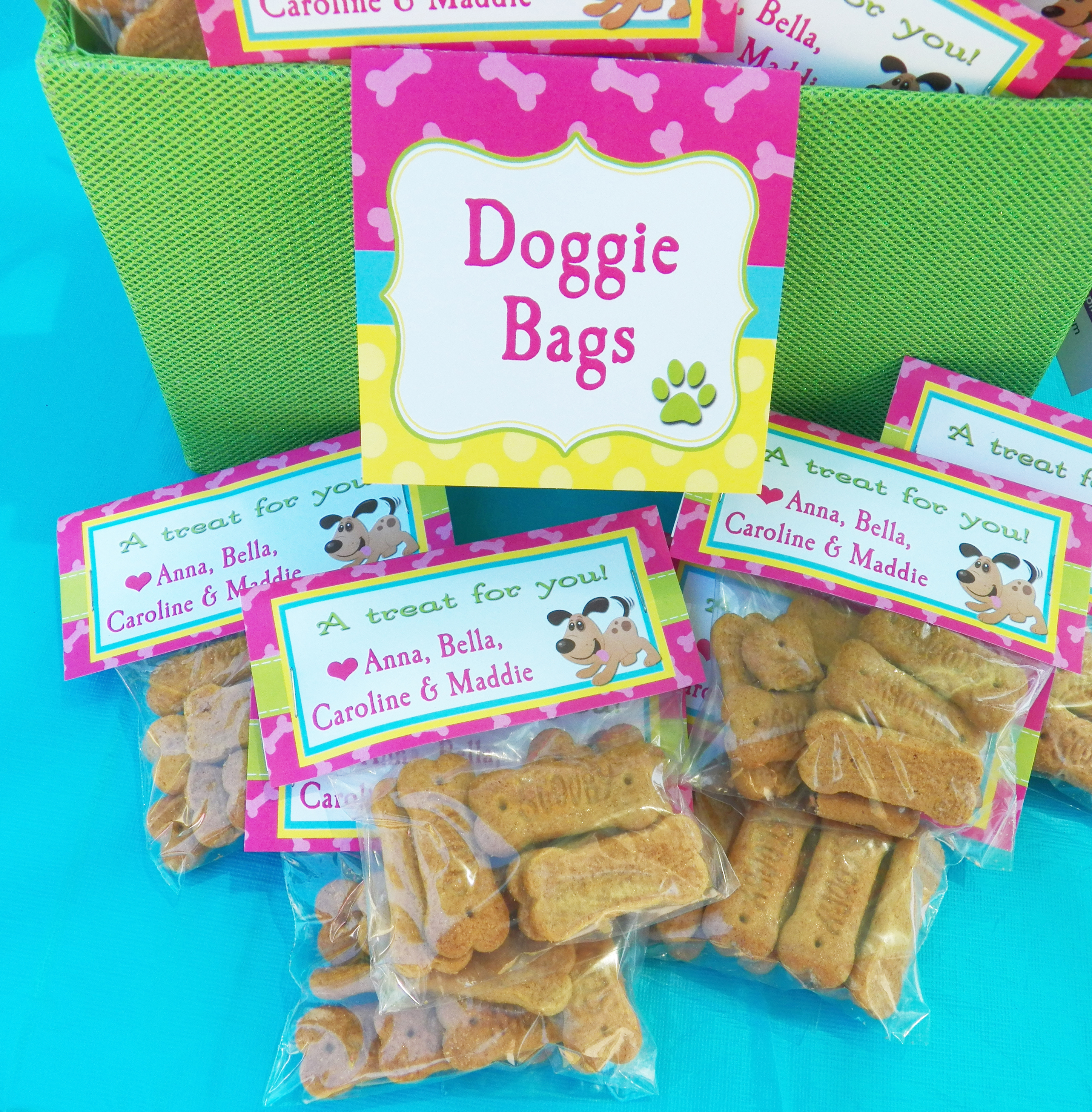 Dog Bone Treat Bags