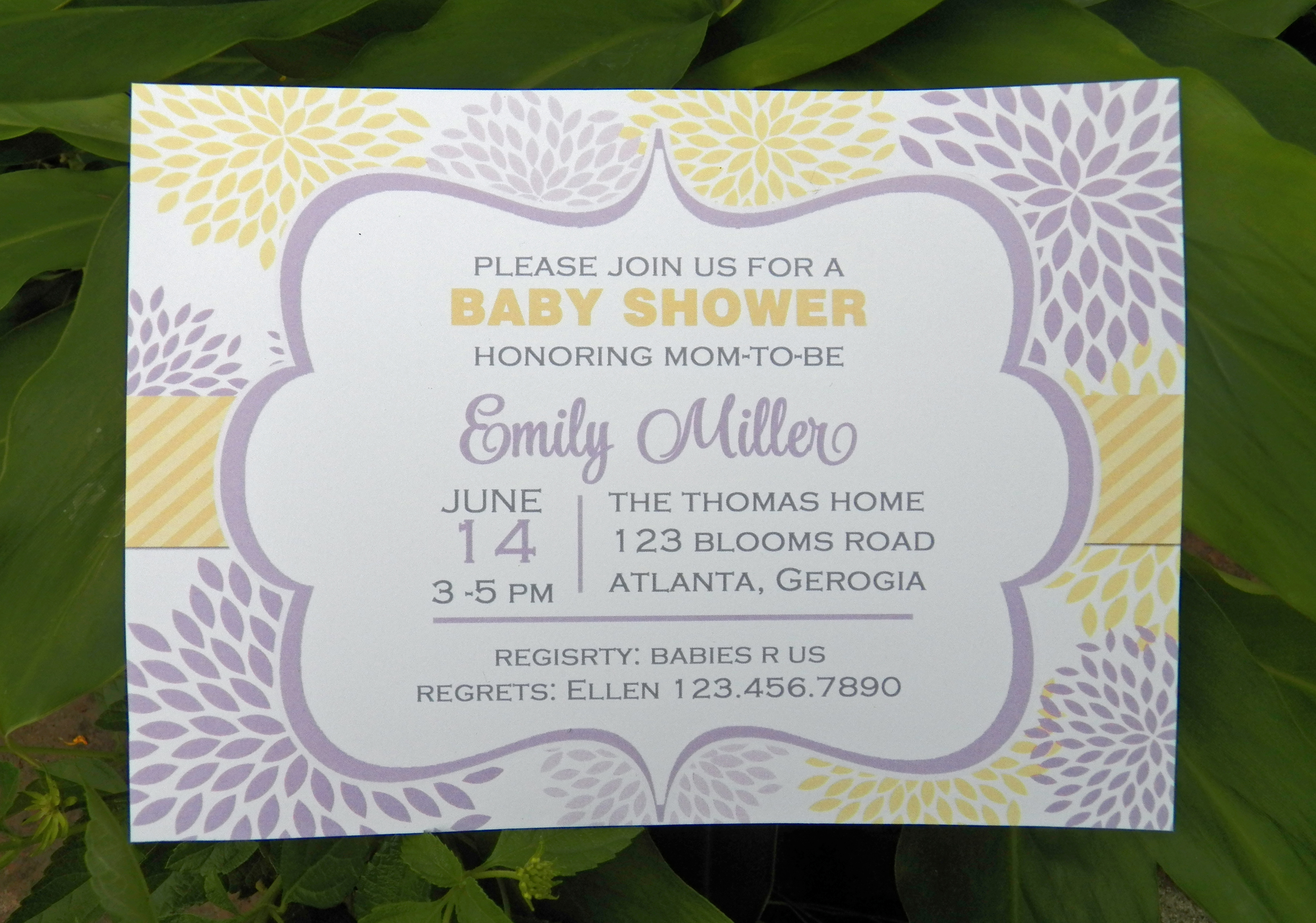 Lavender and Yellow Bloom Baby Shower That Party Chick