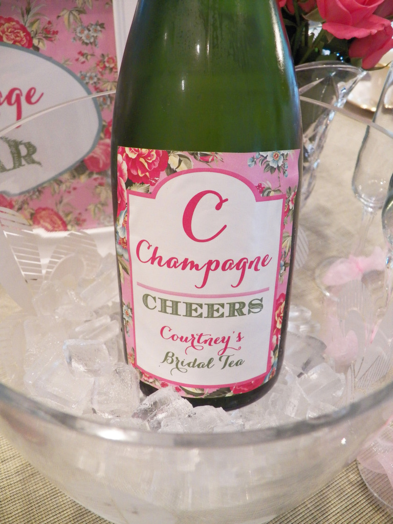 monogram champagne personalized label