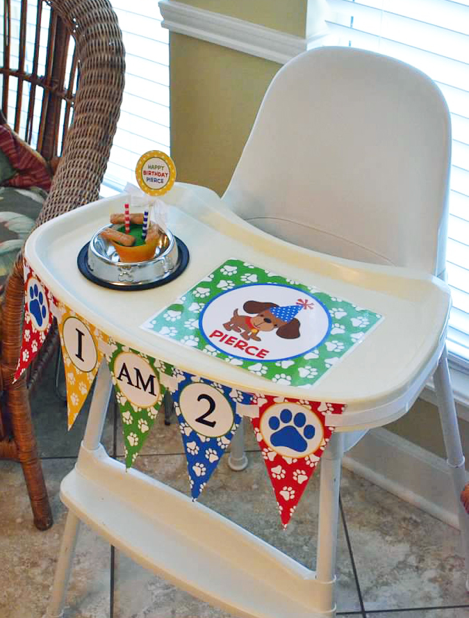 placemat and high chair