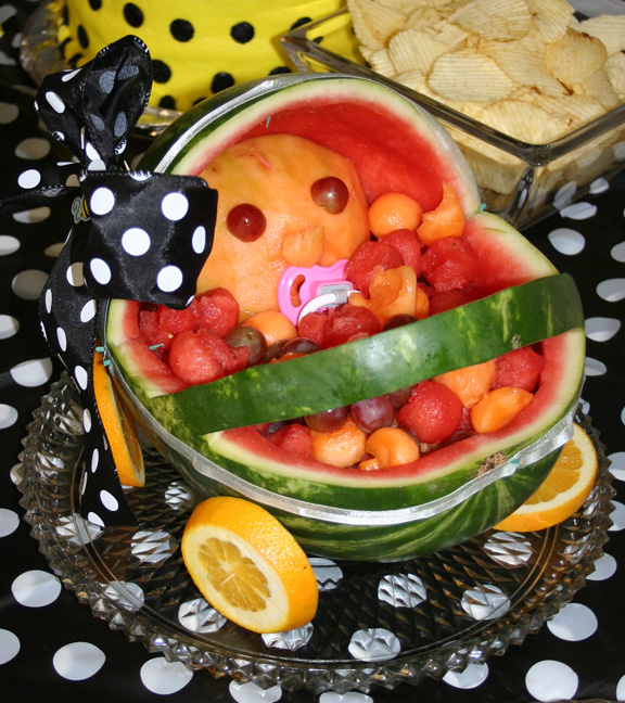 watermelon baby fruit tray