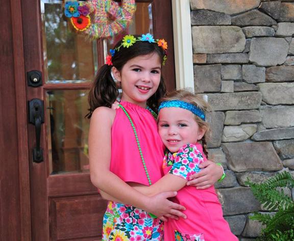 birthday girl and sister