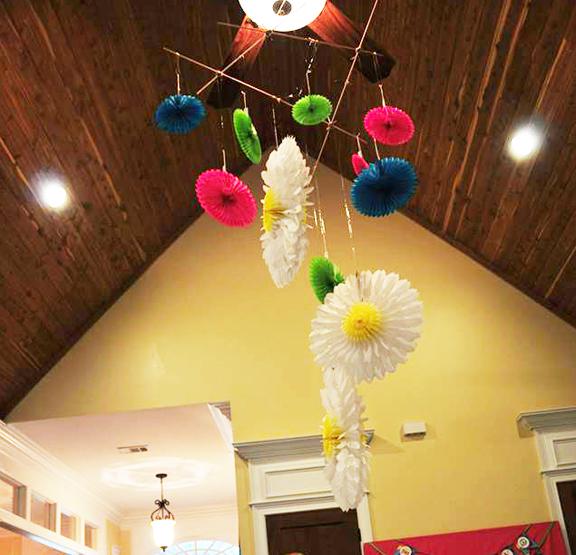 ceiling decor hanging tissue balls 2