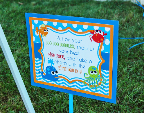 under the sea photo booth sign