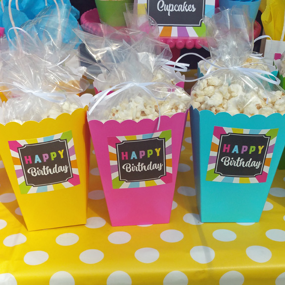 popcorn birthday sticker pub