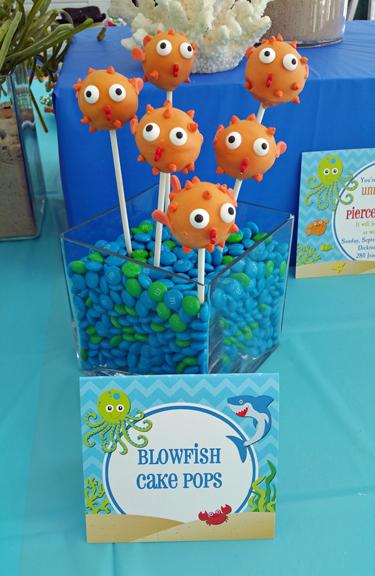 cake pop blowfish tent style pub