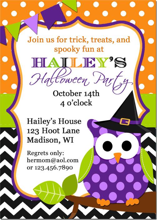 owl halloween invite_pub sample