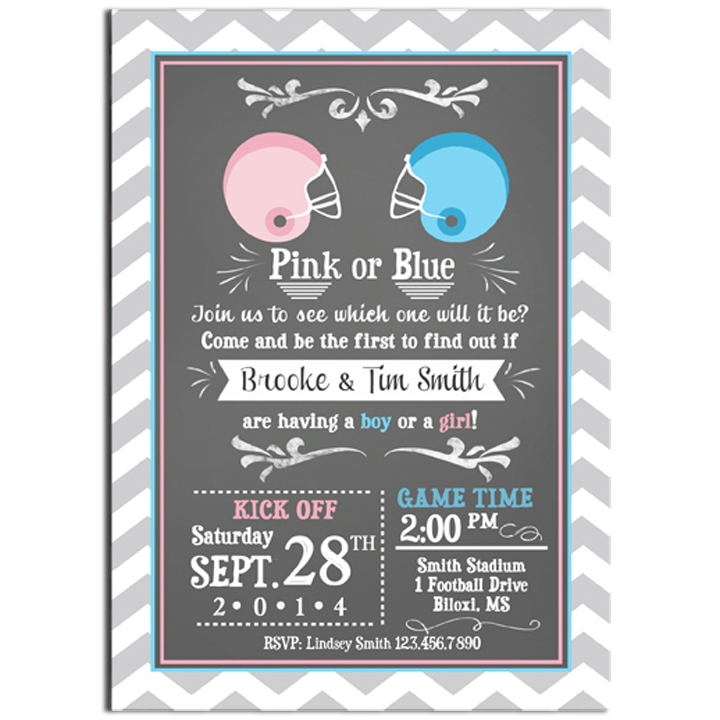 Football Gender Reveal - Pink or Blue?