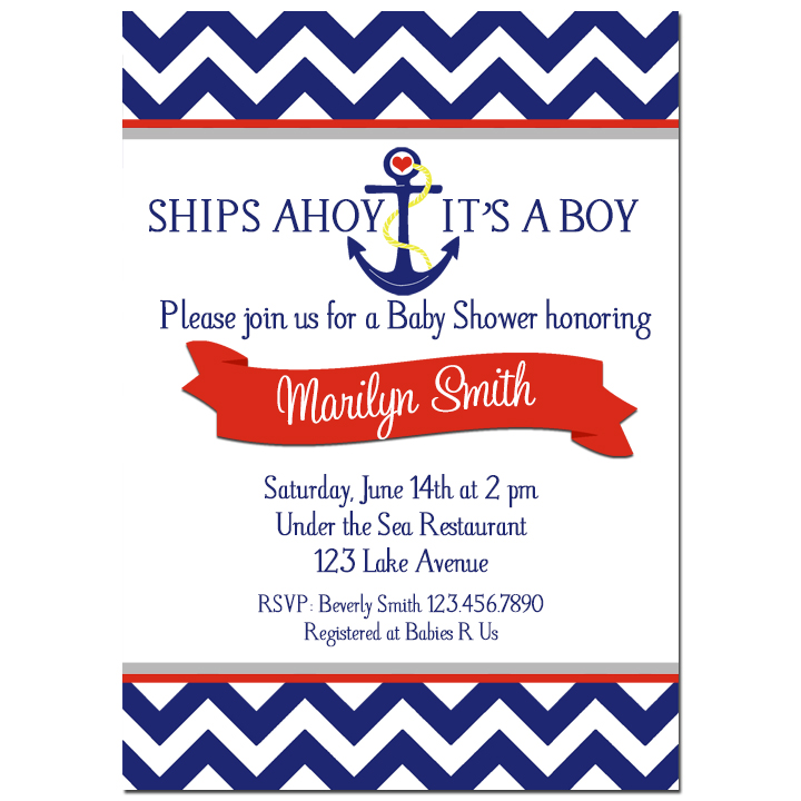 Nautical Ahoy It's A Boy - Anchors Away Collection