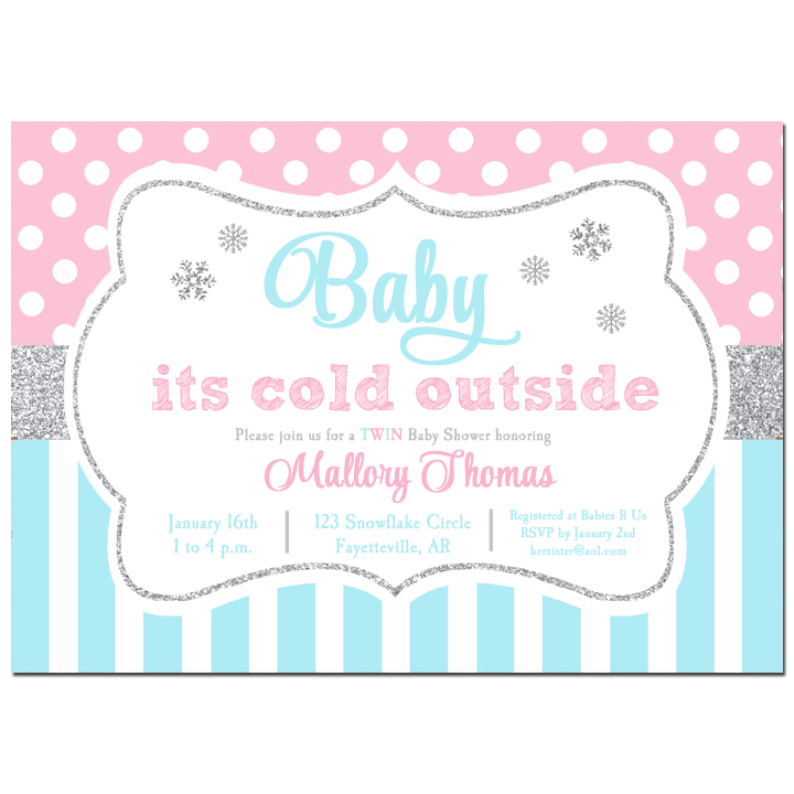 Baby It's Cold Outside Pink Blue
