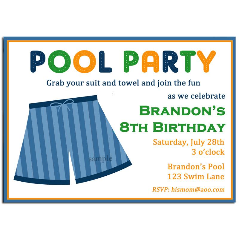 Boy's Pool Party