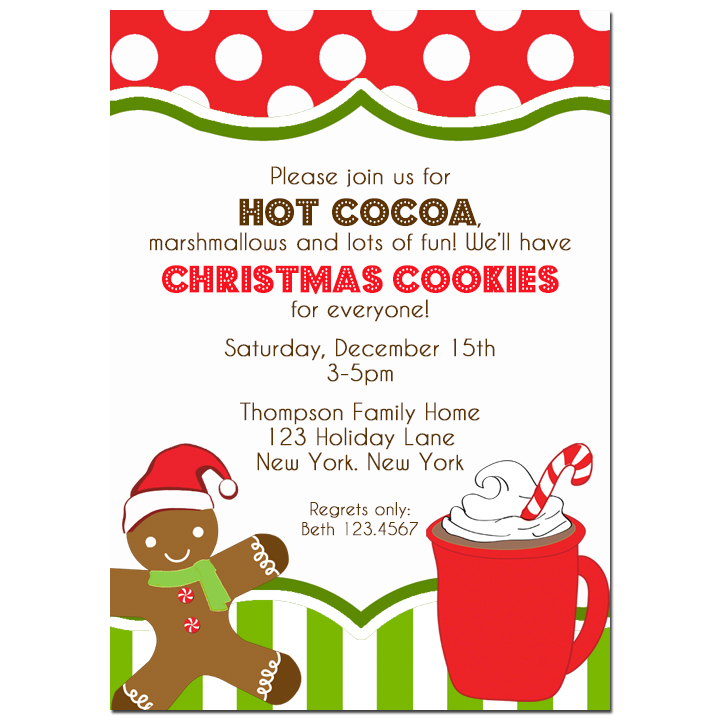 Christmas Hot Cocoa and Cookies