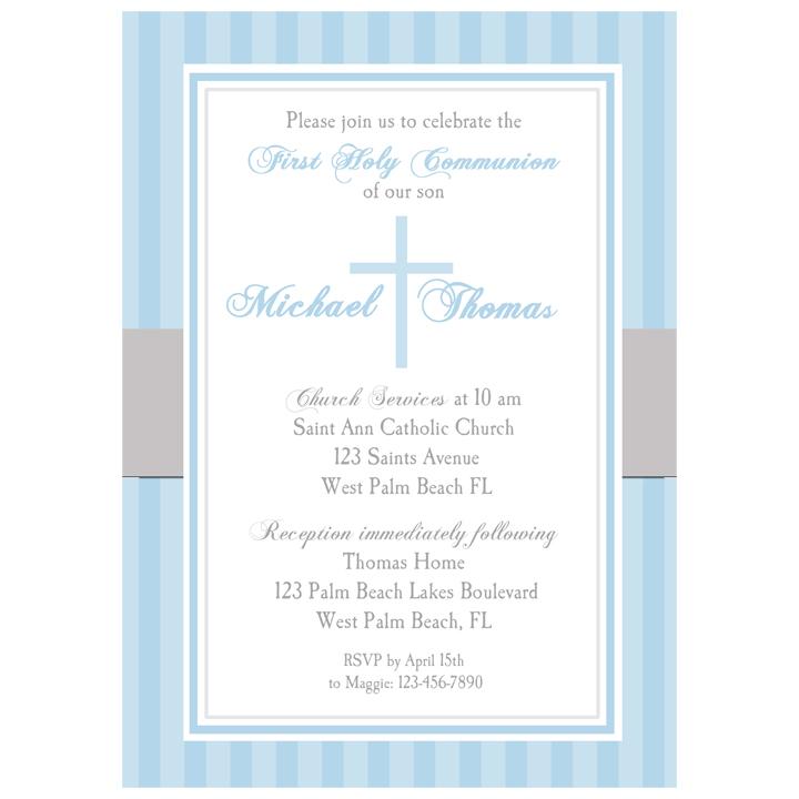 Communion Baptism Blue Cross