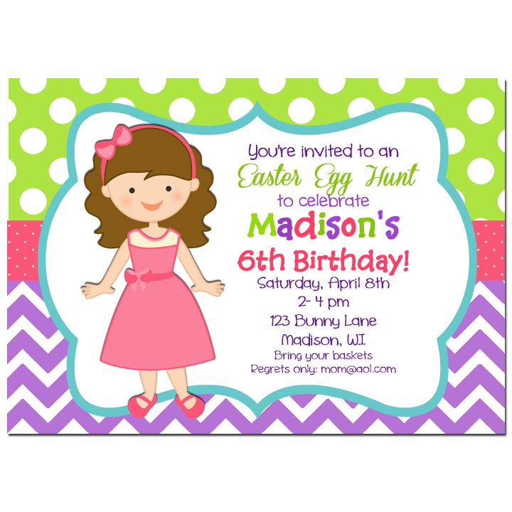 Easter Girl Chevron Dot