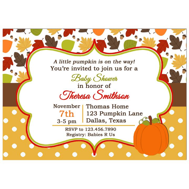 Fall Leaves and Pumpkin