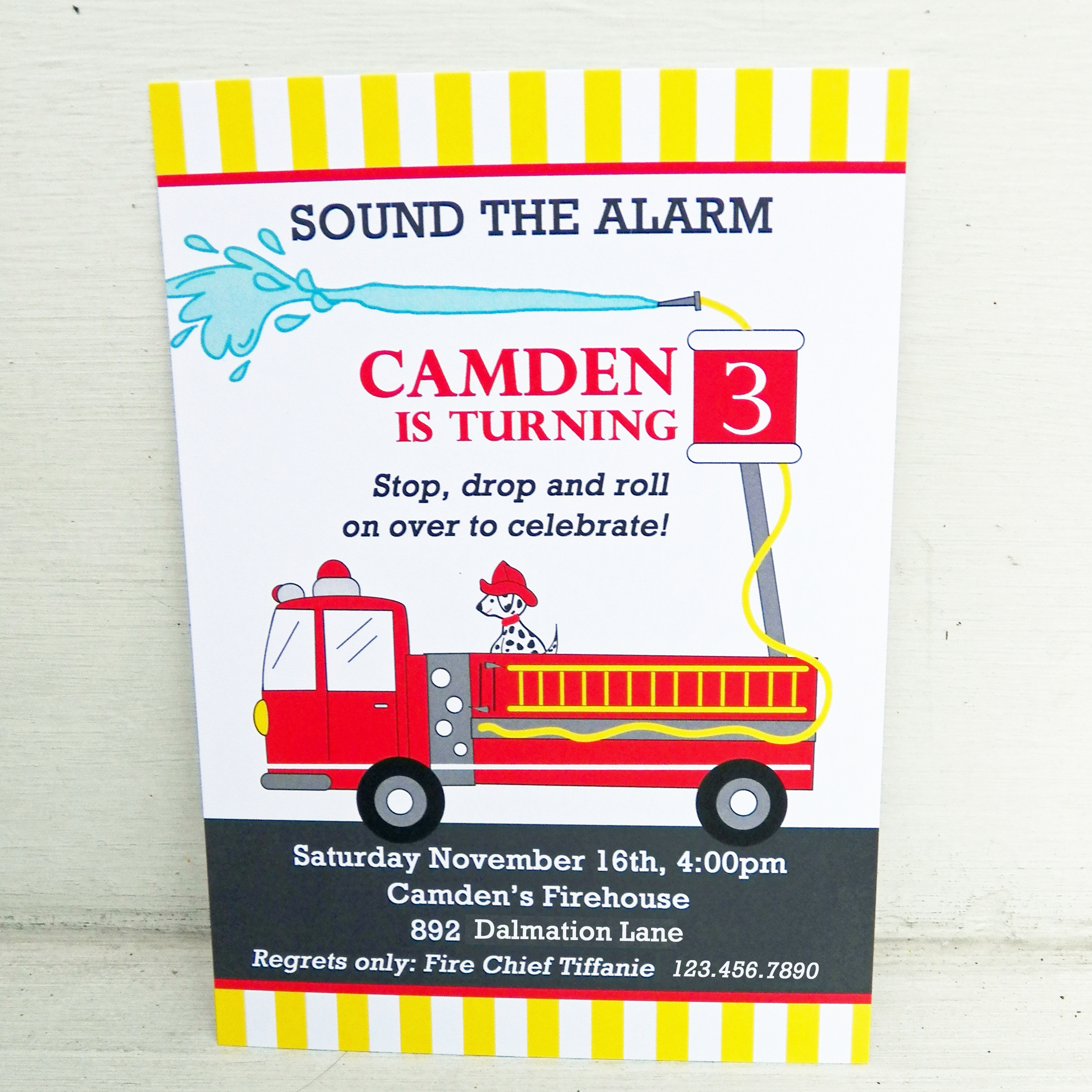 Fire Truck - Firefighter Birthday Party Collection