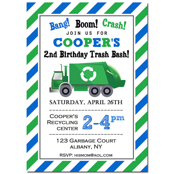 Garbage Recycle Truck - Trash Bash Collection