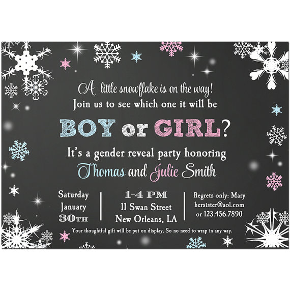 Snowflake Gender Reveal - Baby It's Cold Outside Collection