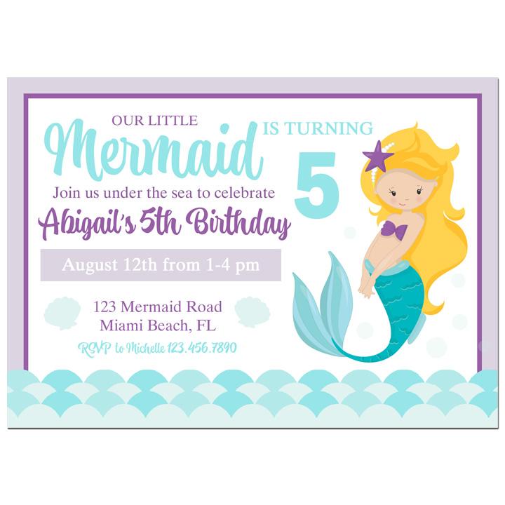 Mermaid - Purple Teal Mermaid Collection